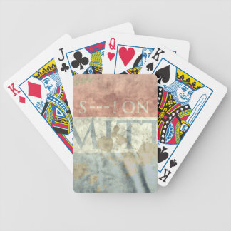 S--- ON MITT BICYCLE PLAYING CARDS