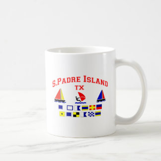 S Padre Island TX Signal Flags Coffee Mug