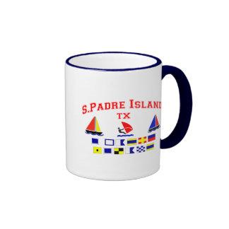 S Padre Island TX Signal Flags Coffee Mug