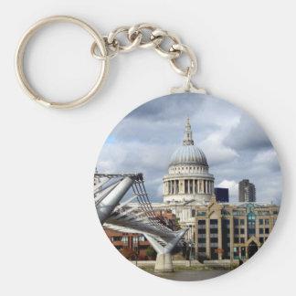 S Paul's Cathedral-Millennium Bridge-London Keychain