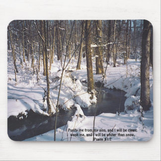 s, Purify me from my sins, and I will be clean;... Mouse Pad
