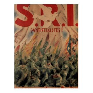 S. R. I. Antifascist! Think of_Propaganda Poster Postcard