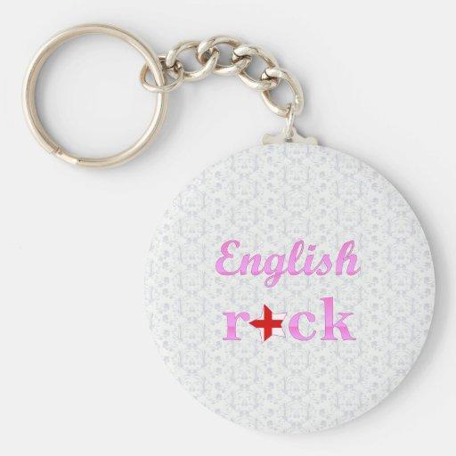 s Rock - Cute Pink Basic Round Button Keychain