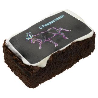 S Rozhdestvom - Electric Moose Chocolate Brownie