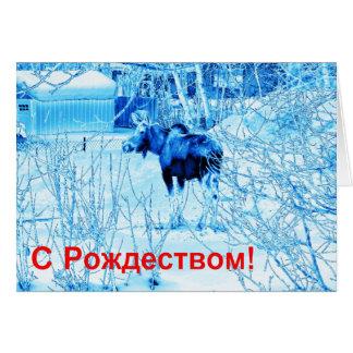 S Rozhdestvom - Urban Moose Card