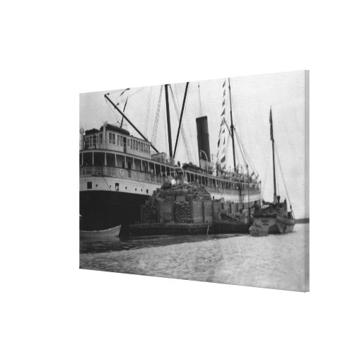 S.S. Alameda at Anchorage, Alaska Photograph Gallery Wrap Canvas