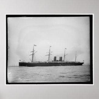 S.S. Alaska Ocean Liner 1890-1899 Vintage print
