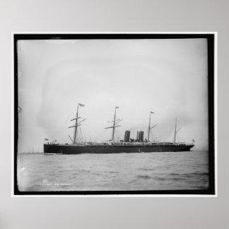 S.S. Alaska Ocean Liner 1890-1899 Vintage Poster