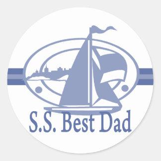 S.S.Best Dad SAIL Classic Round Sticker