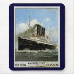 S.S. Caledonia - Nueva York a y desde Glasgow Alfombrilla De Ratón
