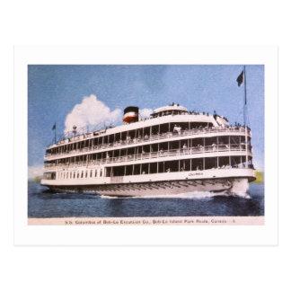 S.S. Columbia of Bob-Lo Excurison Co. Post Card
