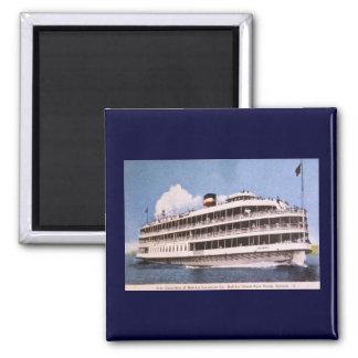 S.S. Columbia of Bob-Lo Excurison Co. Post Card 2 Inch Square Magnet