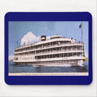 S.S. Columbia of Bob-Lo Excurison Co. Post Card Mouse Pad