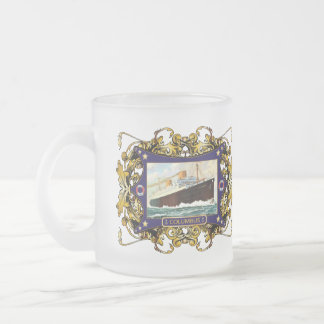 S.S. Columbus Vintage Steamship Passenger Ship Frosted Glass Coffee Mug