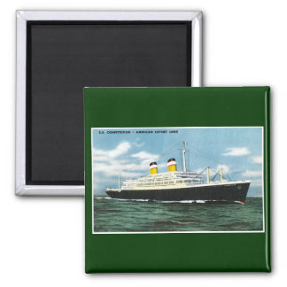 S.S. Constitution American Express Lines Vintage 2 Inch Square Magnet