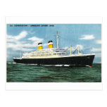 S.S. Constitution American Express Lines Vintage Post Cards