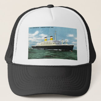 S.S. Constitution American Express Lines Vintage Trucker Hat