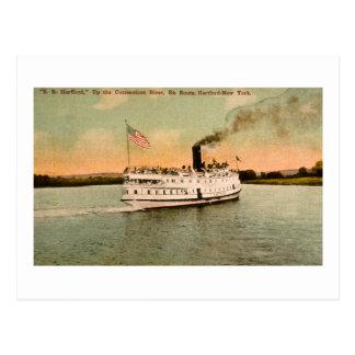 S.S. Hartford encima del río Connecticut Postales