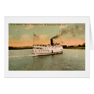S.S. Hartford up the Connecticut River Card