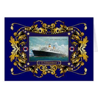 S.S. Independence Vintage Steamship Greeting Card