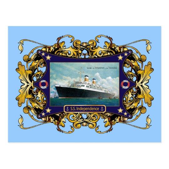 S.S. Independence Vintage Steamship Postcard