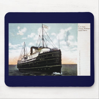 S.S. Iowa, Chicago, Muskegon, Grand Haven Mouse Pad