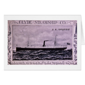S.S. Iroquois Vintage U.S. Military Steamship Greeting Card