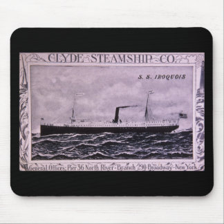 S.S. Iroquois Vintage U.S. Military Steamship Mouse Pad