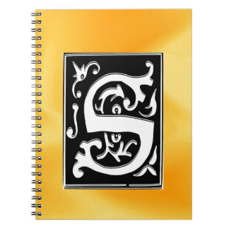 S-S letter Soul mate and love Spiral Notebooks