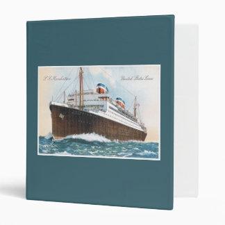 S.S. Manhattan Vintage Ocean Liner Binder