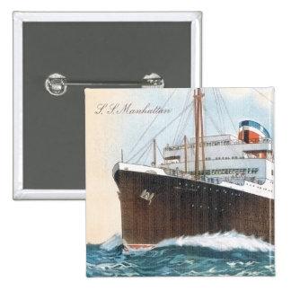 S.S. Manhattan Vintage Ocean Liner Pin