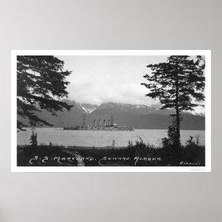 S.S. Maryland near Seward, Alaska 1920 Poster