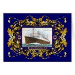 S.S. Nave del buque de vapor del vintage de Manhat Tarjeton