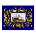 S.S. Nave del buque de vapor del vintage de Postal