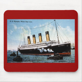 S.S. Olympic Star, White Star Line, 1913 Mouse Pad