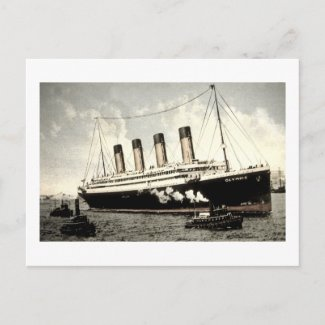 S.S. Olympic Star, White Star Line, 1913 postcard