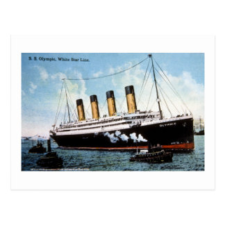S.S. Olympic Star, White Star Line, 1913 Post Cards