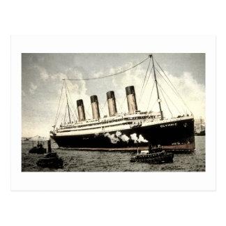 S.S. Olympic Star, White Star Line, 1913 Postcard