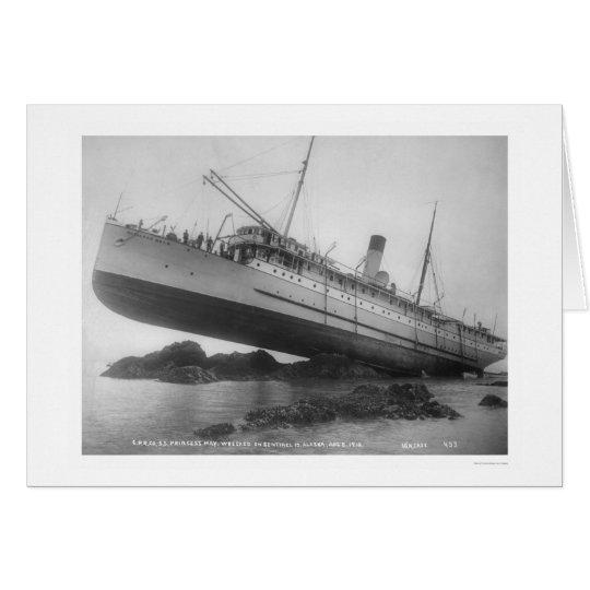 S.S. Princess May Shipwrecked 1910 Card