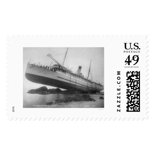 S.S. Princess May Shipwrecked 1910 Postage Stamp