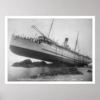 S.S. Princess May Shipwrecked 1910 Poster
