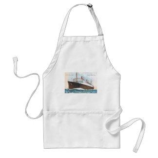 S.S. Revestimiento marino del vintage de Manhattan Delantal