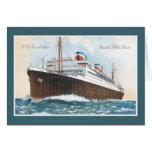 S.S. Revestimiento marino del vintage de Manhattan Tarjeta