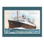 S.S. Revestimiento marino del vintage de Manhattan Postal