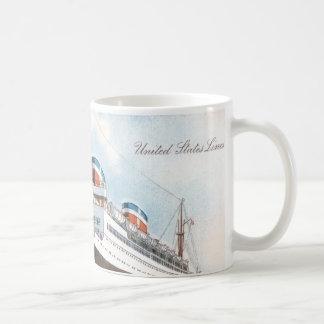 S.S. Revestimiento marino del vintage de Manhattan Taza Clásica