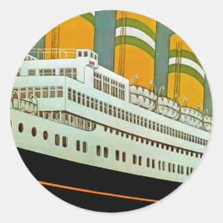 s.s. Statendam Classic Round Sticker