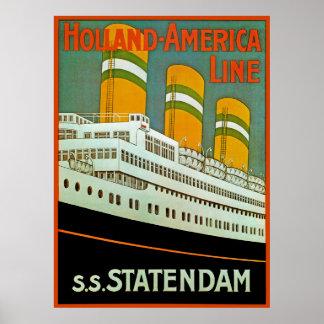 s.s. Statendam Posters