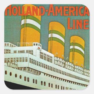 s.s. Statendam Square Sticker