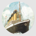 S.S. Titanic at Sea Round Sticker
