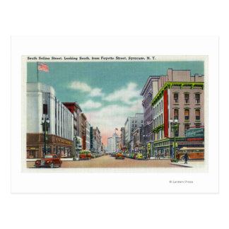 S Salina Street from Fayette Street Postcard